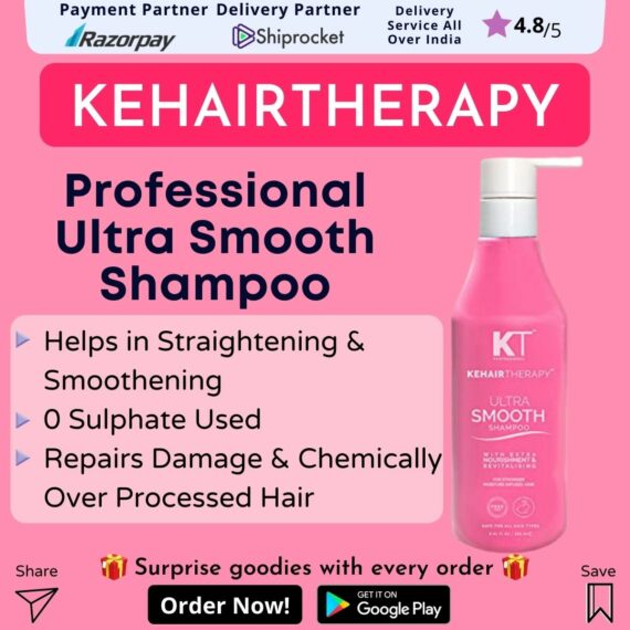 Professional Kehairtherapy Sulfate-free Smooth Shampoo