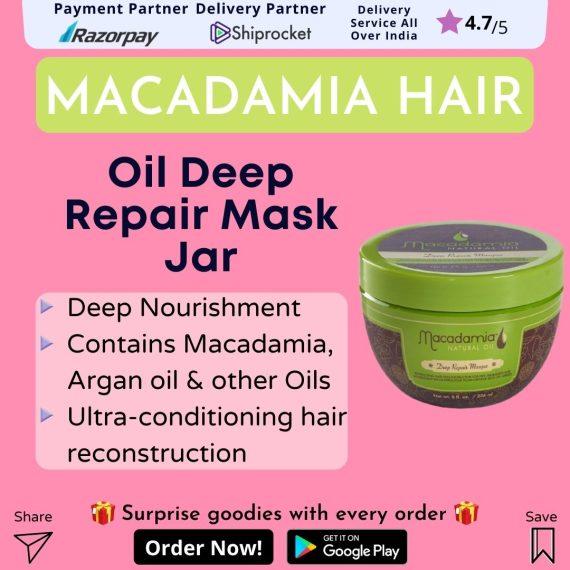 Macadamia Oil Deep Repair Mask Jar